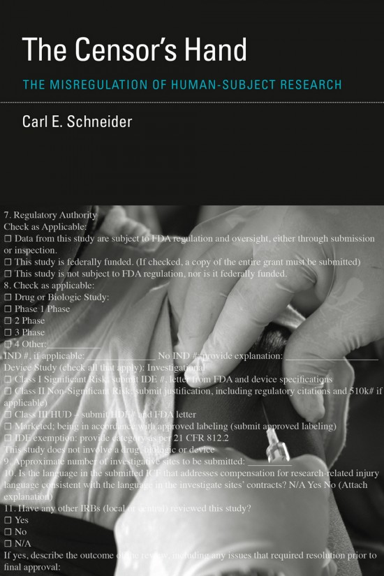 Review: The Censor's Hand (Carl E. Schneider)